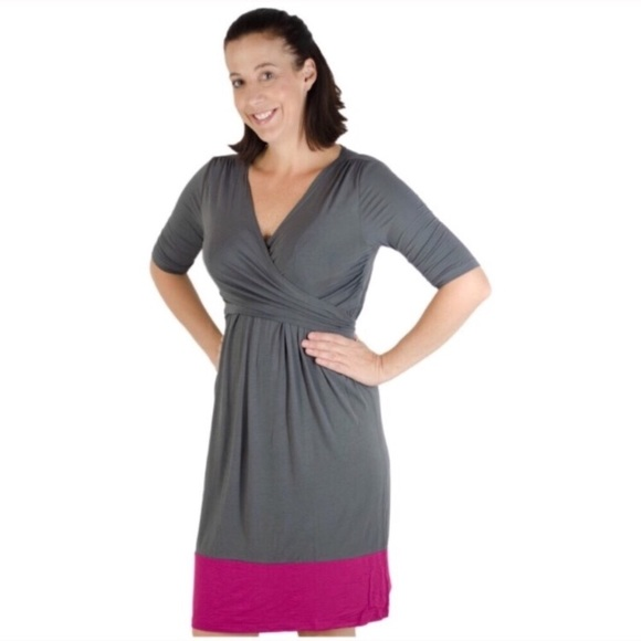 4ee393c1c4c Latched Mama Dresses   Skirts - Latched Mama Nursing Wrap Dress